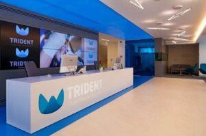 Hol pentru receptia clientilor in cadrul Clinicii Trident