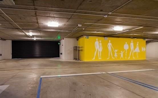 Parcarea subterana din cadrul Clinicii Trident din Bucuresti, dedicata clientilor