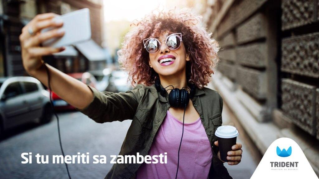 selfie zambet trident